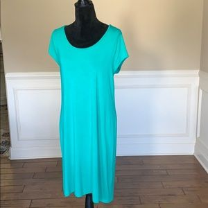 Zenergy Short Sleeve Green Shift Dress Size 2